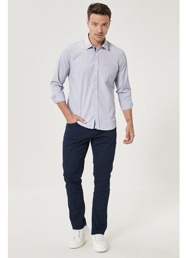 AC&Co / Altınyıldız Classics Kanvas Slim Fit Dar Kesim 5 Cep Pantolon 4A0121100090 Lacivert